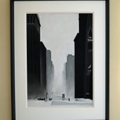 Big City Pastel size 68cm x x48cm with a 12m thick mount Compleate frame size 94cm x 73cm £750