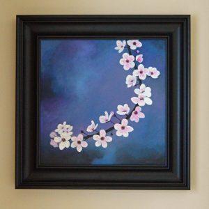 Cherry Blossom 3 Acrylic 50cm50cm Complete frame dimensions 67cm 67cm £560