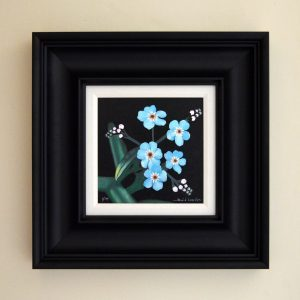 Forget Me Nots Mixed media print Frame size 42cm x 42cm £125