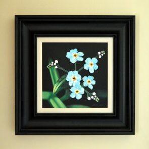 Forget Me Nots Original acrylic Frame size 52cm x 52cm £495