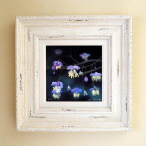 Fuchsias mixed media print farme size 38cm x 38cm £125
