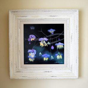 Fuchsias mixed media print farme size 48cm x 48cm £185