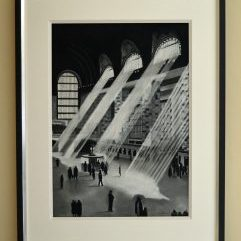 New York Central Pastel size 68cm x 48cm with a 12m thick mount Compleatel frame size 94cm x 73cm £750