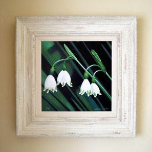 Snow Drops mixde media print frame size 48cm x 48cm £185