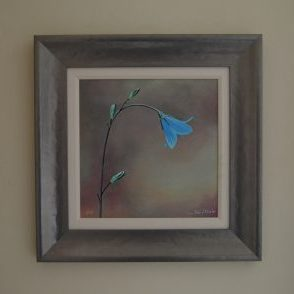 Spanish Blue Bell Original acrylic frame size 48cm x 48cm £185