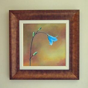 Spanish Blue Bell Original acrylic frame size 48cm x 48cm £360