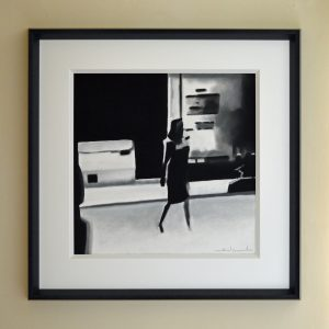 The Girl From Ipanema pastle size 48x48x with a 12m thick mount over all frame size 73x73 £450